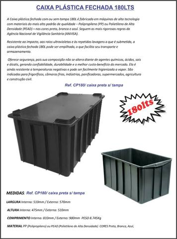 Caixas plástica organizadora 15lts na cor preta - Foto 5
