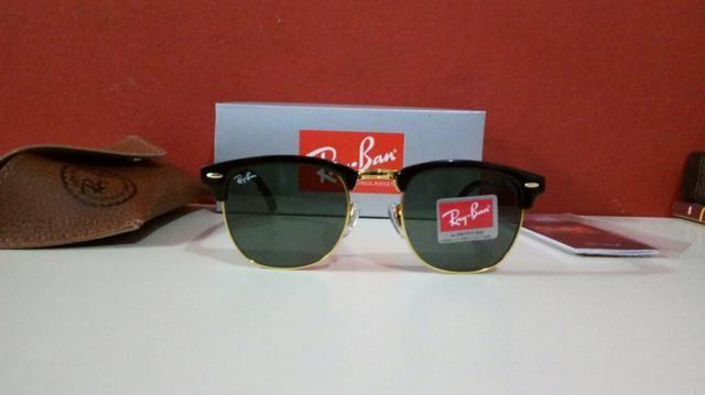 f8834d5ea Óculos de sol Ray Ban Clubmaster preto Unissex Novo Frete grátis ...