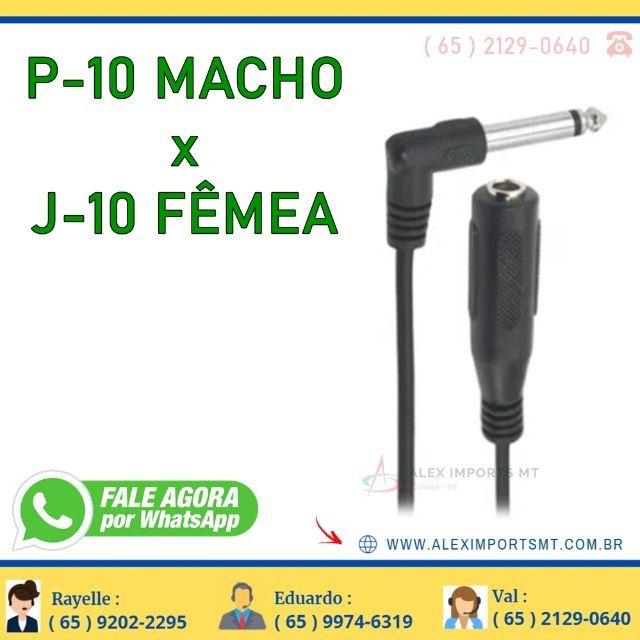 Cabo Chip Sce P10 Macho Mono J10 Fêmea Mono 3 Metros Cabu