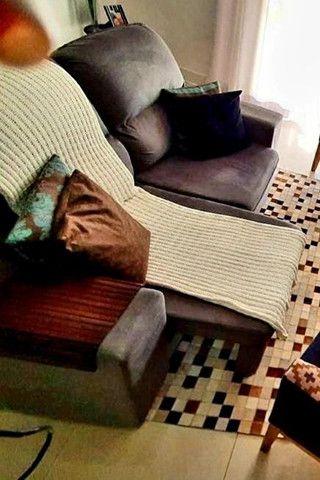 Sofa 3 lugares modelo com chaise dos dois lados. Cinza chumbo.  - Foto 2