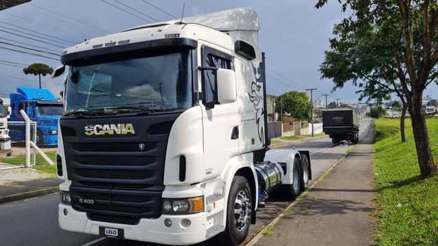 Scania 124 G 400 ano 2013 Trucado 6x2 com ar cond Unico Dono Lindo - Foto 4