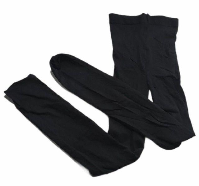 Meia calça selene opaca preta elastano - Foto 3