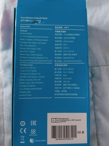 Fone Air 6 Bluetooth - Foto 3