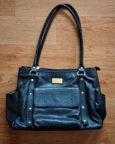 Bolsa e carteira de couro
