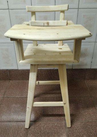 Cadeirao de alimentação para bebês de Madeira maciça para restaurante ou casa - Foto 3