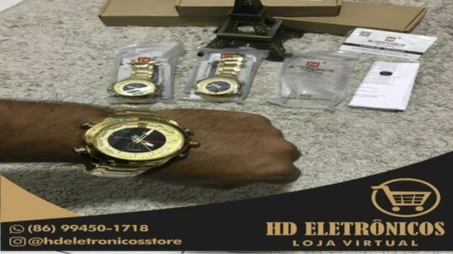 Promoção só HOJE relógio Naviforce original lacrado analógico e Digital - Foto 5