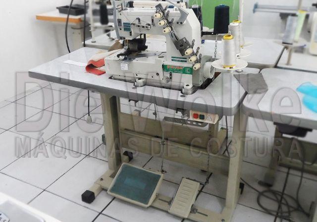 Fechadeira Plana 3 agulhas - Máquina de Costura Usada - Foto 3