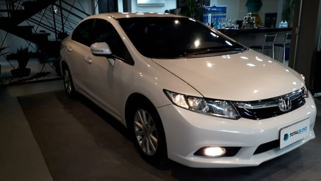 Blindado Honda Civic lxr Flex 13/14 80.000 km - Foto 4