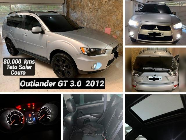 Mitsubishi Outlander 2012 GT 3.0 4x4 Autom. C/ Teto Couro Mídia R 48.999,99 Ipva Pago