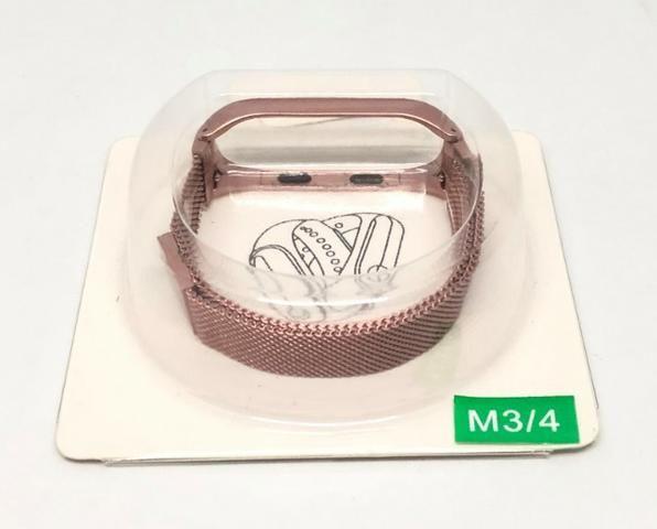 Pulseira Para Relógio Mi Band M3 e M4 de Aço Inoxidável Produto Novo - Foto 3