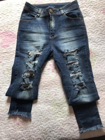 Calça Jeans despojada tamanho 36 - Foto 2