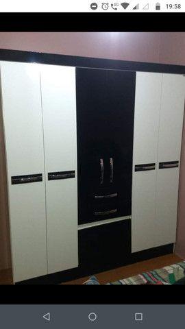 Guarda-roupa Casal 6 portas - 2,05m x 1,74m / 46cm de profundidade + Sapateira gratis - Foto 4