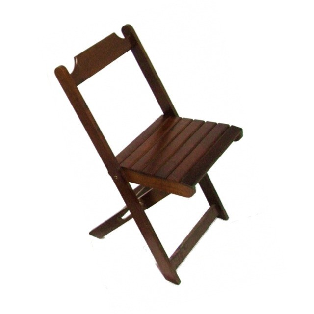 Cadeira imbuia de madeira