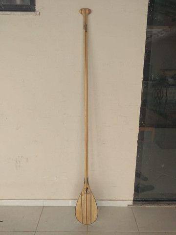 Remo SUP madeira balsa 1,78cm - Foto 2