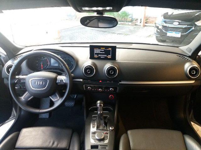 Audi A3 Sportback 1.8 Turbo FSI 2014 prata, automático, teto, couro - Foto 11