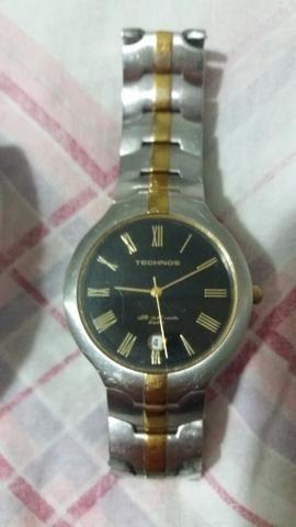 Relógio Techinos e pulseira em aço