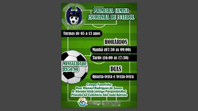 Escolinha de futebol PRIMEIRA CAMISA