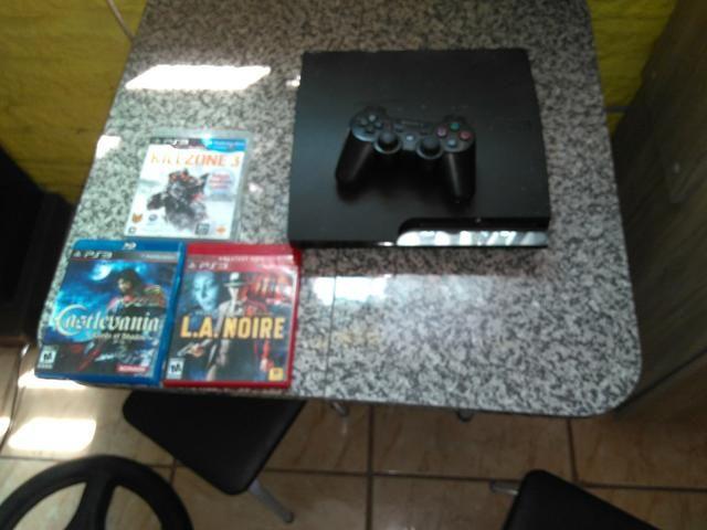 Play 3 desbloqueado com 3 jogos 500 reais