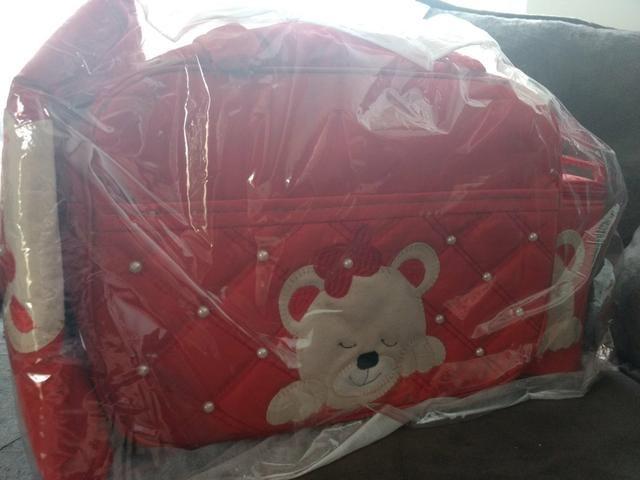Vendo Kit Bolsa Maternidade Vermelha Nova