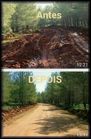 Solução para estradas de chão e açudes