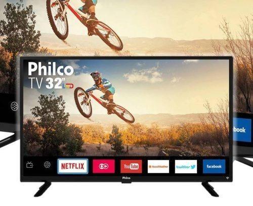 3267abf2309 Smart Tv Led 32  Philco NOVO - Áudio
