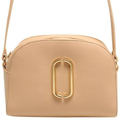 d96ee903c Bolsa Detalhe Frontal Dourado Pequena Birô 11185902 Creme - Bolsas ...