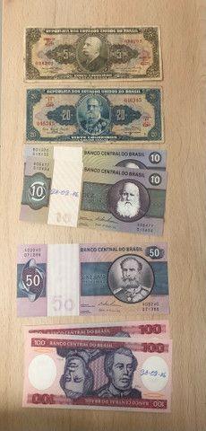 Cédulas nacional antigas - Cruzado e Cruzeiro