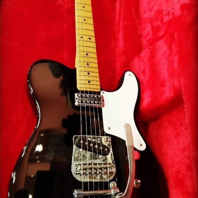 Guitarra Fender Squier Cabronita Custom Telecaster Bigsby No Precinho, de 5999 por 4999 - Foto 2