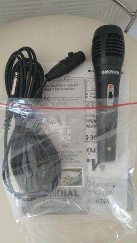Microfone mondial original novo na embalagem - Foto 3