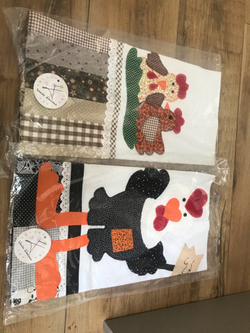 Panos de prato patchwork/bordados. 12 unidades  - Foto 2