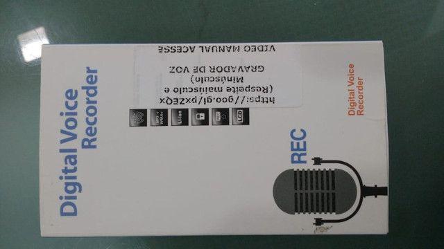 Mini gravador de voz digital DVR 8GB com MP3.  - Foto 2