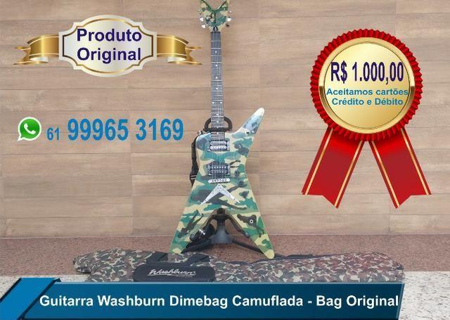 Guitarra Washburn Dime Camuflada c/ Bag Original
