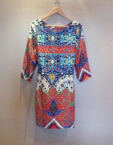 Vestido étnico Midi