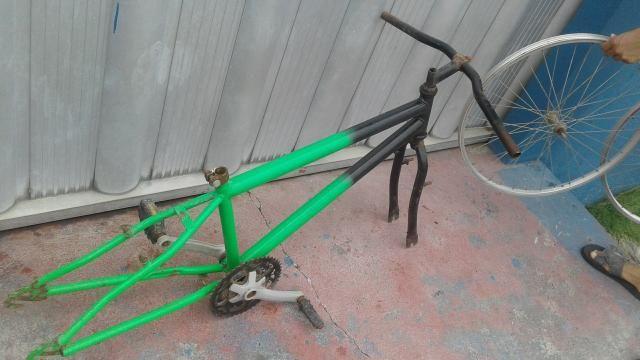 Quadro e Aros 26 usados bike