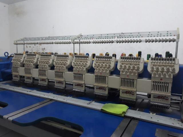 Maquina de bordado MKT 8 cabeças 9 agulhas
