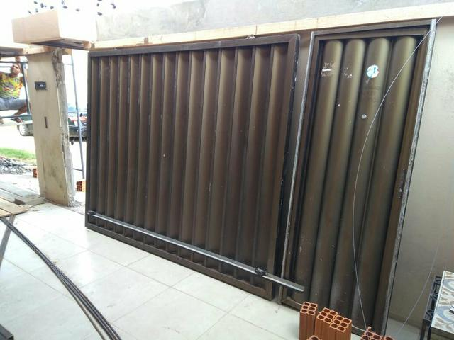 Portao de aluminio semi novo(bronze)