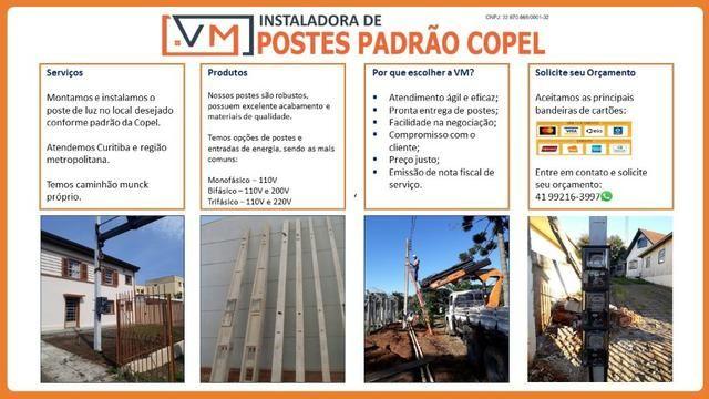 VM Poste Padrão Copel e Locação de Munck