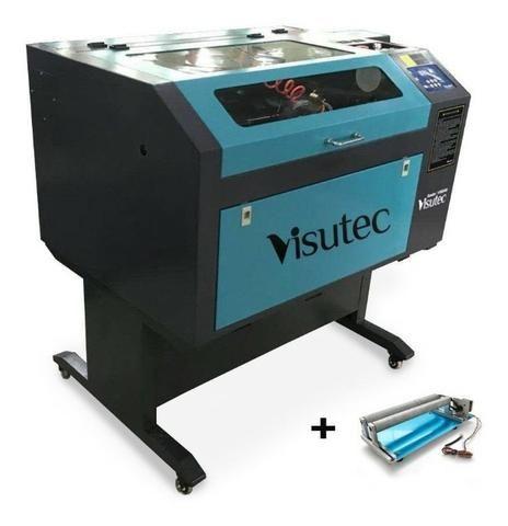 Máquina Router Laser cnc VS6040 Corte e Gravação Completa 60x40cm 60W Com Eixo Rotativo