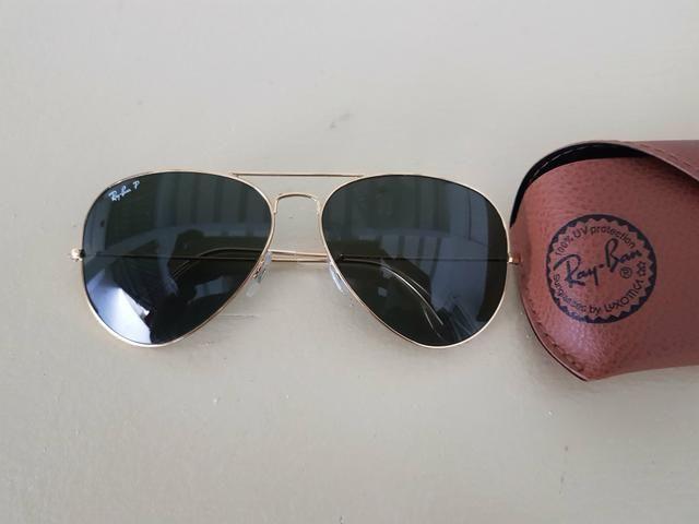 ea49b7ba4d71f Óculos rayban aviador(polarizado) - Bijouterias