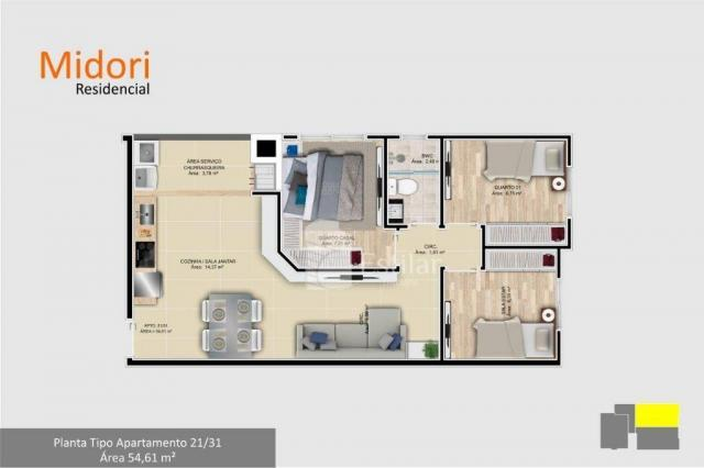 Apartamento com 3 quartos no afonso pena - são josé dos pinhais/pr - Foto 7