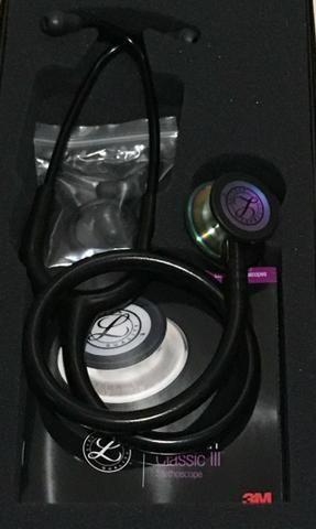 Estetoscópio littimann Classic 3 acedeção especial cor preto e chocolate - Foto 5