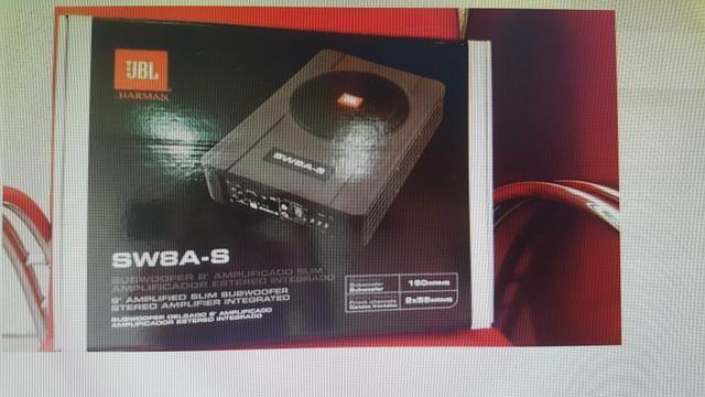 Caixa de som Slin JBL 8 polegas amplificada novinha - Foto 4