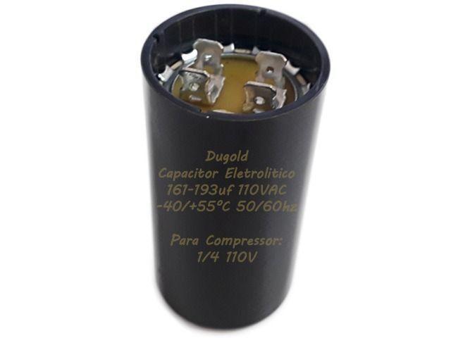 Capacitor Eletrolítico 161-193Uf Para 1/4 110Vac