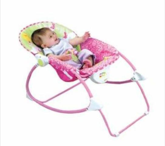 Cadeira de Descanso bebê Vibratória Princesas - Baby Style - Foto 3