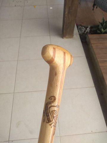 Remo SUP madeira balsa 1,78cm - Foto 6