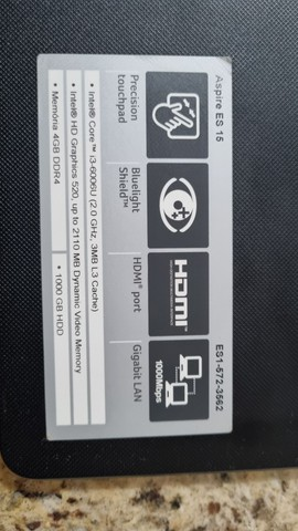 Notebook Acer 15,6 i3 8gb 120gb 12x s juros - Foto 3