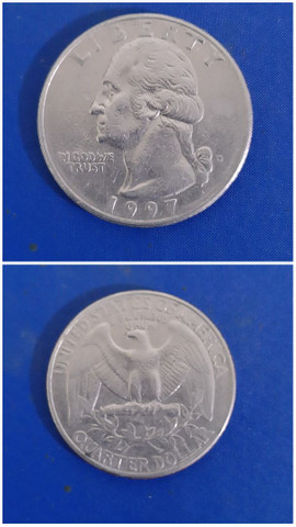 Moeda americana RARA quarter dollar 1997 Liberty George Washington  - Foto 3