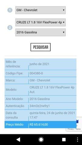 GM Chevrolet Cruze LT 1.8, 2016/2016, câmbio automático, novíssimo.  - Foto 18