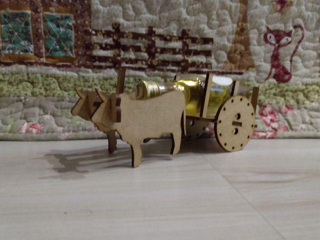 Carrocinha de boi MDF - Foto 3