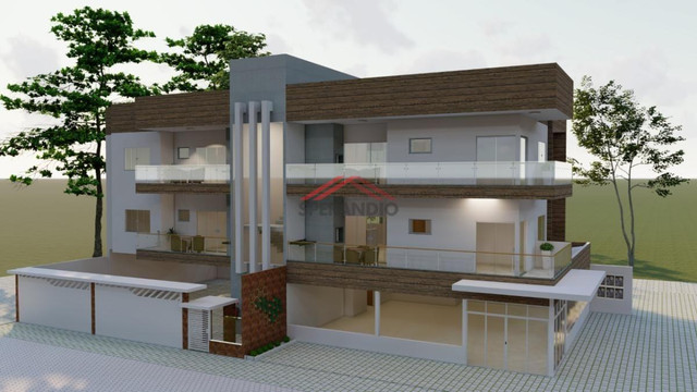 Última unidade! Apartamento novo c/ 1 suíte + 2 quartos, frente para Avenida Pérola - Cond